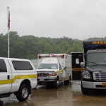 Dive Team Vehicles at North Point during Appreciation Day